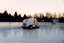 Ice Resurfacer In Action