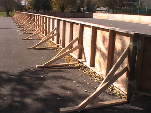 Captivating Example Of Rink Brackets For Outdoor Skating Rink. Making Wooden Rink Boards