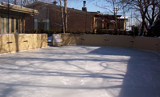 Robert's refrigerated backyard rink