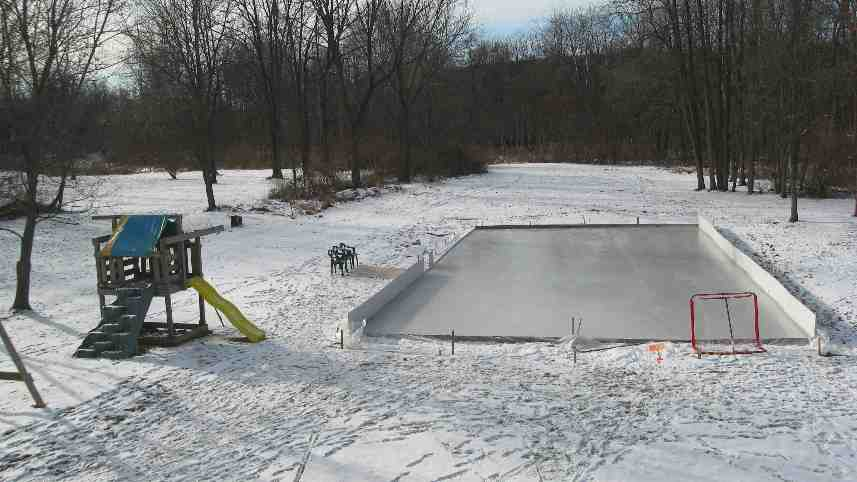 how to build an ice rink in my backyard
