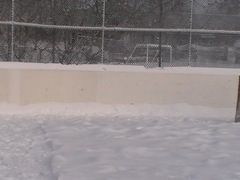 Making borders on my backyard ice rink.