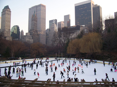 outdoor skating rink of Wollman in New York, USA.