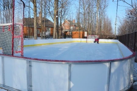 high-density, durable plastic rink boards