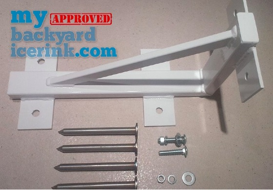 "mybackyardicerink skating rink bracket assembly kit - 8.5"" x 16"""