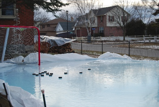 Our Backyard Rink Shooting Pad