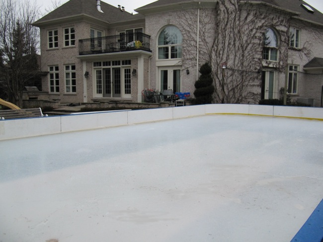 Natural Backyard Ice Rink Construction