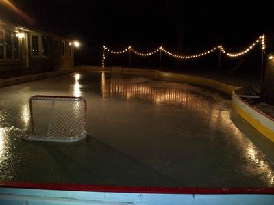 Central Ohio Rink on a Sloped Backyard