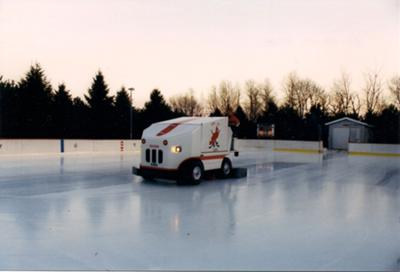 Boisvert Arena, Ice Resurfacer in Action