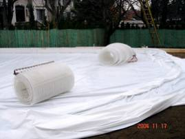 Ice Rink Piping on Plastic Rink Liner
