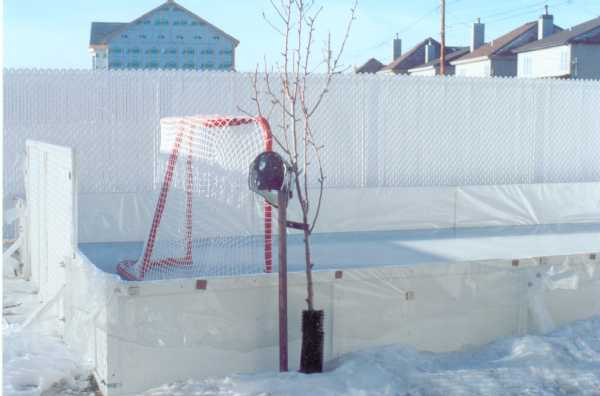 Liner method for backyard ice rinks