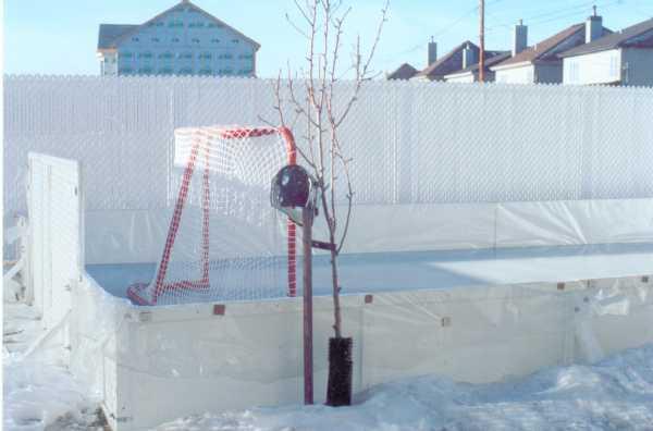 Liner method for backyard ice rinks