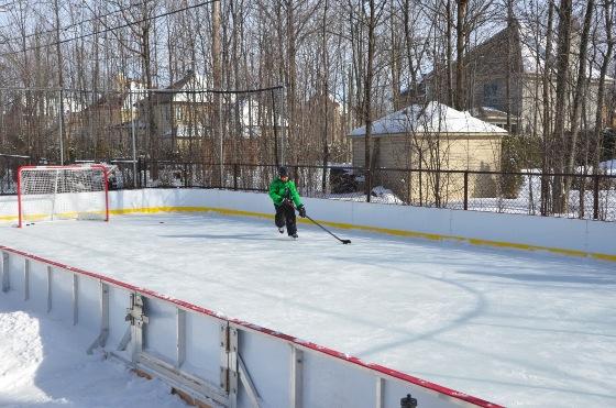 Ice Hockey Rink by My Backyard Ice Rink