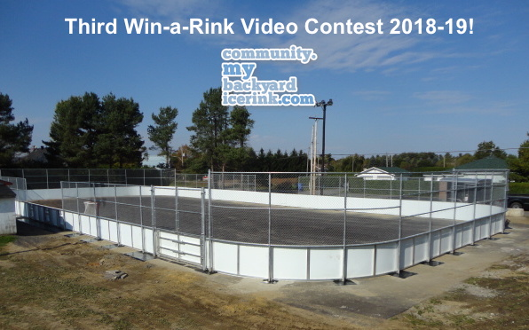 My Backyard Ice Rink Contest - First Prize : A Complete Pro Series Community Grade Rink Package