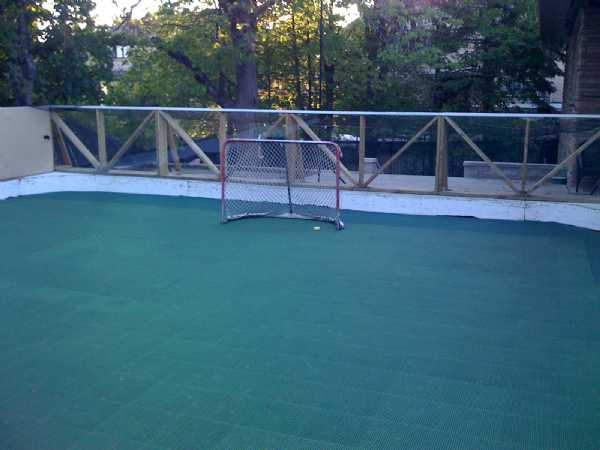 Roller hockey rink conversion