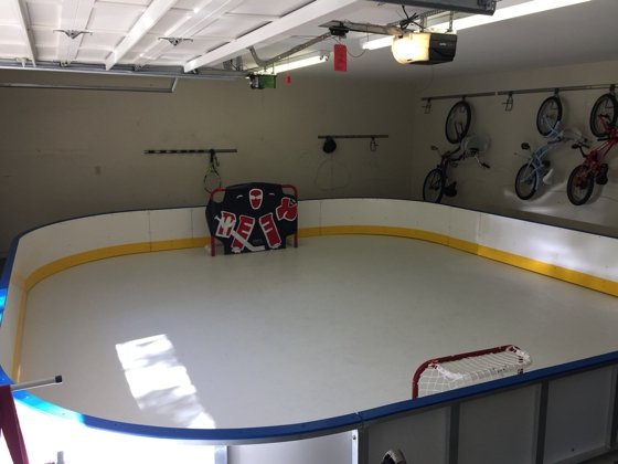 Home Synthetic Ice Rink of NHL player  Anton Strålman of the Tampa Bay Lightning