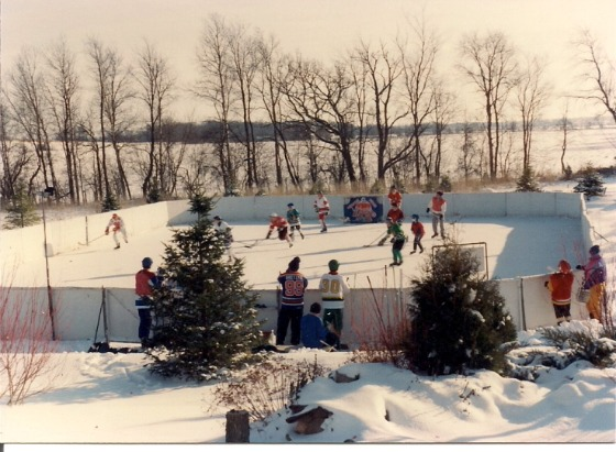 Skating on Outdoor Rink