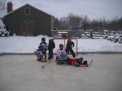 Backyard Hockey - Ed Kunzelman's Backyard Ice Rink