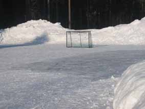 Old-fashioned Outdoor Ice Rink